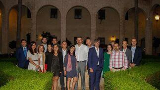 María Jesús Almazor, directora del Territorio Sur de Telefónica, junto a varios directivos de la compañía en Andalucía. / Fotos: Juan Carlos Muñoz y Victoria Hidalgo