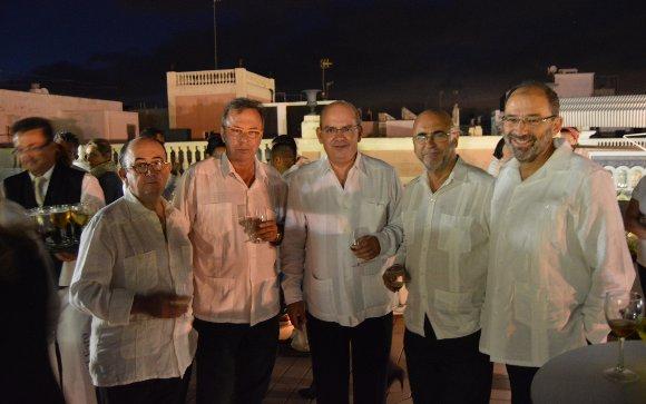 Rafael Román, Antonio Pérez, Javier Sánchez Rojas, Carlos Rosado y Fernando Santiago.  Foto: Ignacio Casas de Ciria