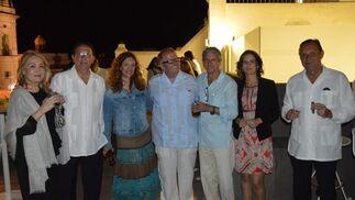 Esperanza Sánchez, Luis Núñez, María Ángeles Carrasco,Juan José Téllez, Ignacio Sánchez, Macu Díaz y Juan Expósito.  Foto: Ignacio Casas de Ciria