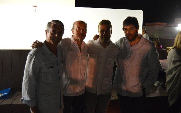 Ignacio Sánchez, Juan Carlos Campo, Fernando Pérez Monguio y Fabián Santana.  Foto: Ignacio Casas de Ciria