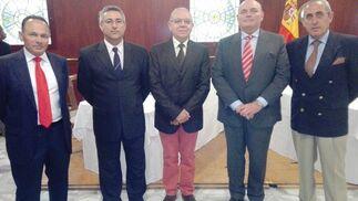 Sergio Pérez, Francisco Bendala, Juan Torrejón, Antonio Planells y Javier Delgado.  Foto: Ignacio Casas de Ciria