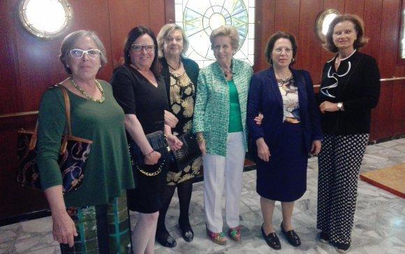 Pilar Hacar, Patricia Frattini, Pepa Guerra, Guillermina Blanca, María del Carmen de Arnaiz y Ángeles Salas.  Foto: Ignacio Casas de Ciria