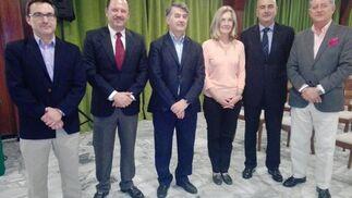 Ricardo Trujillo, Emilio de la Cruz, Enrique Juan Pascual, Carmen  Cózar, José Luis Souto y José María Gomez.  Foto: Ignacio Casas de Ciria
