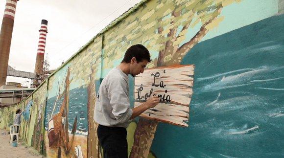2013. La industria no tiene por qué ser gris. Artistas de toda Andalucía han decorado los muros exteriores de la Refinería Gibraltar-San Roque a través de la iniciativa Urbanart, que supone una muestra más de la relación de Cepsa con el entorno.