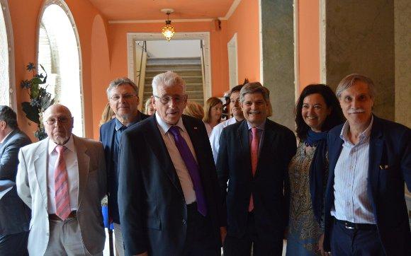 José Romero, Miguel Ángel Entrenas, Luis Bringas, Enrique García, Carmen Moreno y Francisco Corral.  Foto: Ignacio Casas de Ciria