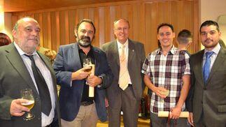 Rafael Gardullo, Antonio Hierro, Francisco Hormigo, Jesús Manuel Aguilar y Sebastián Mateos.  Foto: Ignacio Casas de Ciria