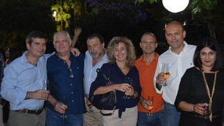 Marcos Vega, José Díaz, Enrique Fernández, María del Mar Barrientos, Manuel Fernández, Jesús Miguel García y Ana Hernández.  Foto: Ignacio Casas de Ciria