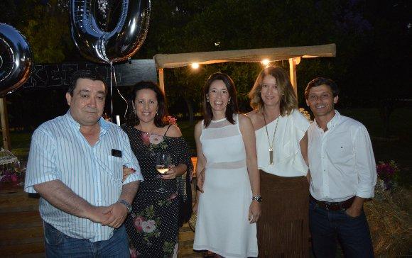 Enrique Méndez, las hermanas Rosa, Elena y María del Mar Muñoz y Rafael Albertos.  Foto: Ignacio Casas de Ciria