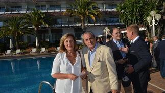 Blanca Pemán, con su primo, Ramón Guerrero.  Foto: Ignacio Casas de Ciria
