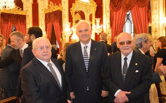 Ramón Ariza, Alfonso Guajardo-Fajardo y Ricardo Martínez de Salazar.  Foto: Ignacio Casas de Ciria
