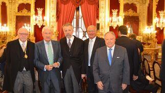José Pedro Pérez-Llorca, Miguel Nuche, Hernán Cortés, Antonio Adán Cortés y Enrique Maestre.  Foto: Ignacio Casas de Ciria