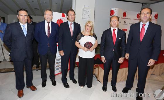 Rafael Navas, José Joly, Ignacio Osborne, la alcaldesa Mamen Sánchez, Rami Aboukhair y Alberto Delgado.  Foto: Pascual · Vanesa Lobo