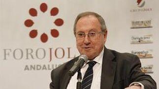El presidente de la Cámara de Comercio de España, José Luis Bonet, durante su conferencia.   Foto: Alex Camara