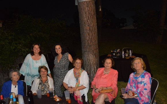Lola Liaño, Marichu Fernández Vivancos, Carmen Miranda, Dolo Sicre, Mimi Palomino, Conchita Martínez del Cerro y Lola Jaques.  Foto: Ignacio Casas de Ciria