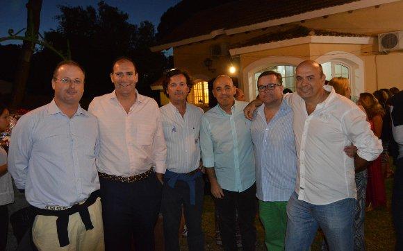 Pepe Palomino, Rafa Sánchez de Lamadrid, Rai Angosto, Christina Harhoff y Rafa Rivera.   Foto: Ignacio Casas de Ciria