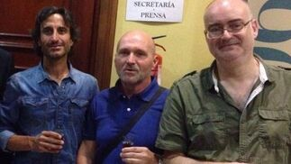 Los profesores de la Universidad de Cádiz, Pepe Jurado, Javier de Cos y Fernando Durán.  Foto: Ignacio Casas de Ciria