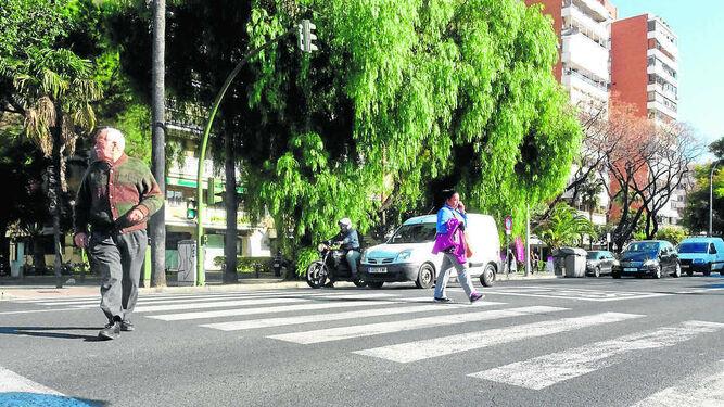 Paso de peatones de acceso al Colegio Portaceli, donde ayer se produjo el atropello.