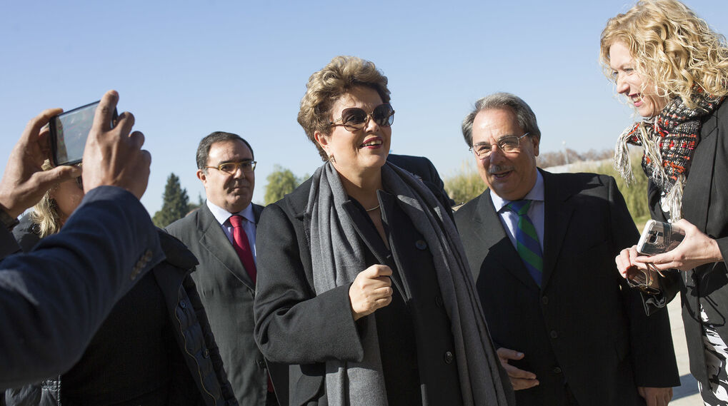 La imágenes de Dilma Rousseff en Sevilla