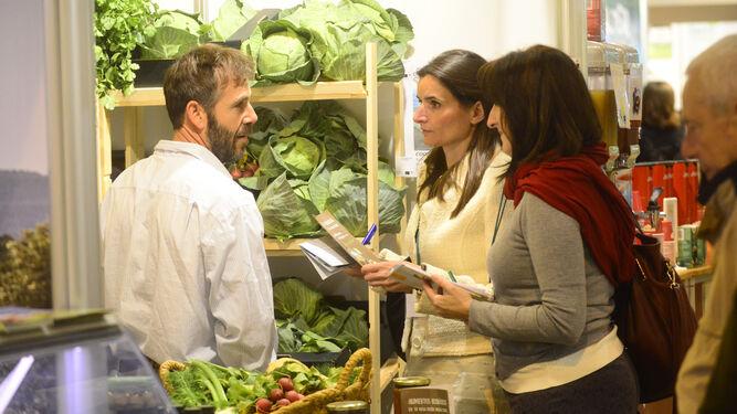 Expositor de agricultura ecológica certificada, en la edición pasada.