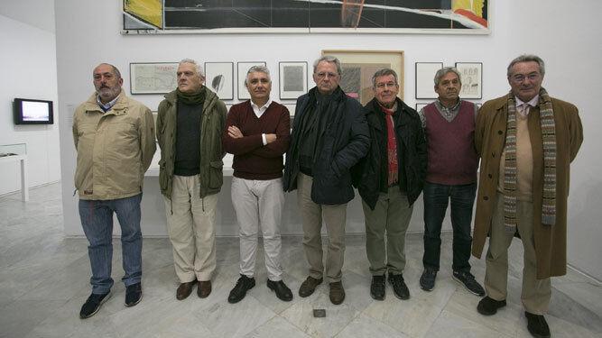 Algunos de los protagonistas de la muestra, en la presentación.