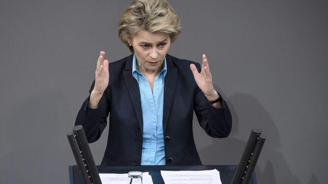 La ministra alemana de Defensa Ursula von der Leyen.