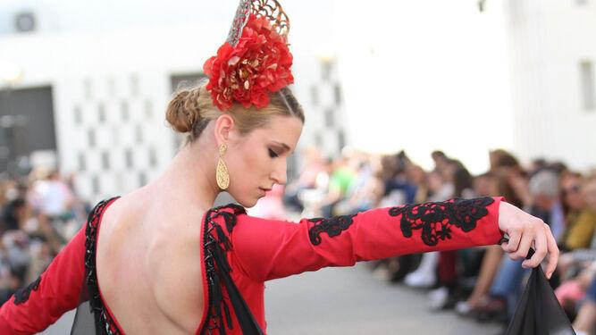 Vestido de José Manuel Valencia.
