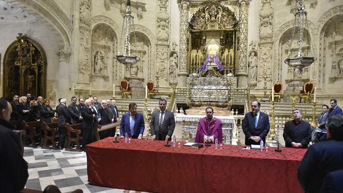 Un momento de la celebración del Cabildo de Tomas de Horas en la Catedral.