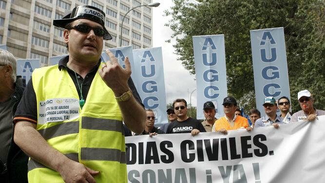 Una manifestación de guardias civiles convocada por el sindicato AUGC