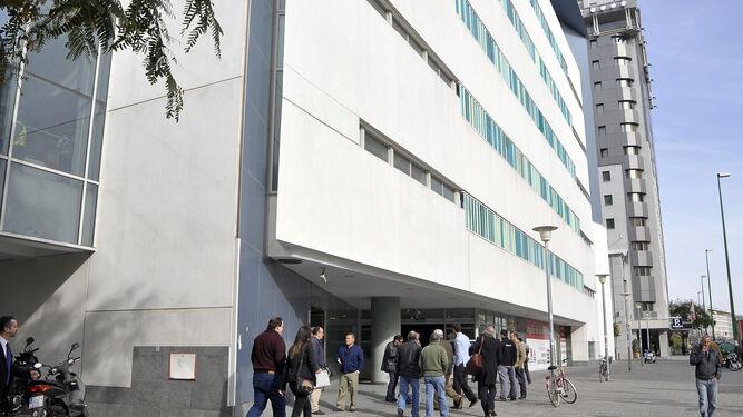 La sede judicial del edificio Noga, en la avenida de la Buhaira.