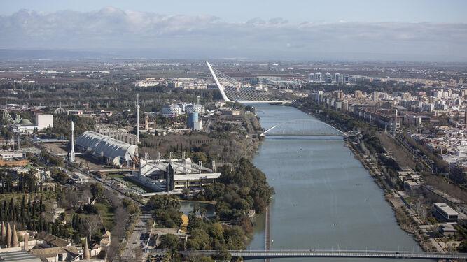 Foto actual de lo que fue la Expo de Sevilla.