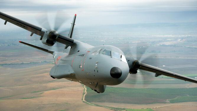 Imagen de uno de los aviones militares C295 que ya opera Kazajistán.