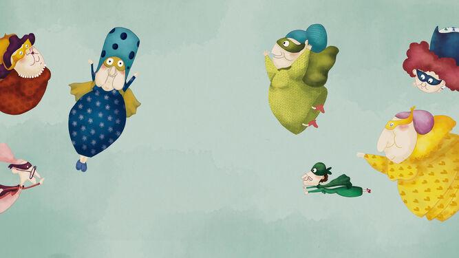 Ilustración de Cristina Quiles para el álbum.