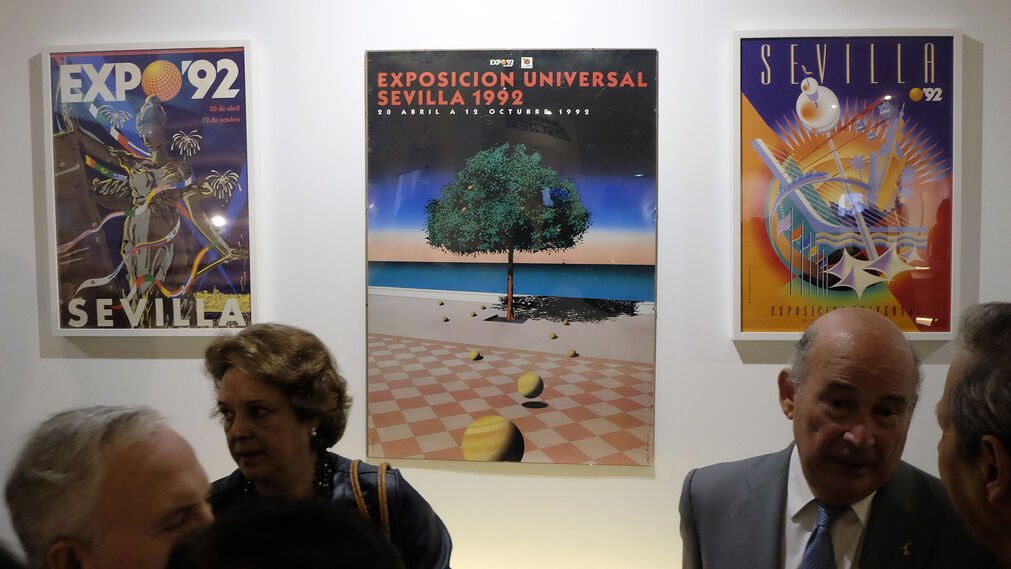 Las imágenes de la inauguración de la muestra de la Expo 92