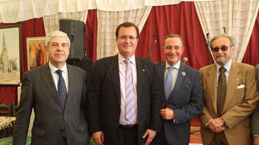 Damián Álvarez, Juan Carlos Cabrera, el teniente general Juan Gómez de Salazar Mínguez y José Carlos Ruiz-Berdejo.