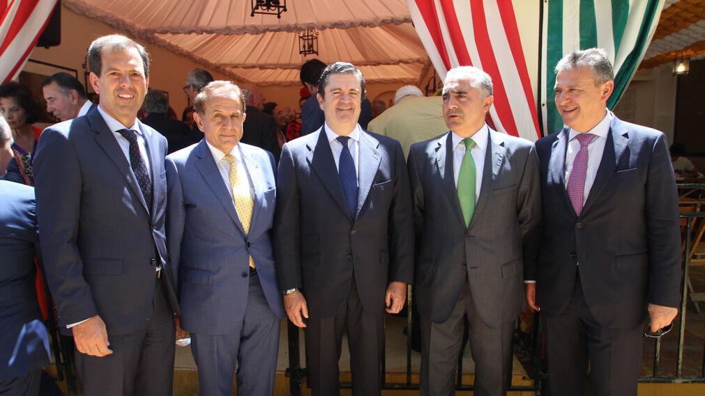 Rafael Pelayo, del Banco Popular; Antonio Pascual, Borja Prado, Luis Marín, director territorial del Banco Popular; y Francisco Arteaga.