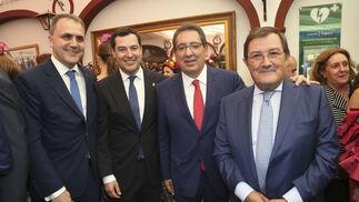 Fernando Moral, Juanma Moreno, Antonio Pulido y Joaquín Sainz de la Maza.