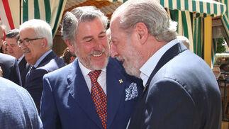 Miguel Gallego y Fernando Rodríguez Villalobos, presidente de la Diputación.