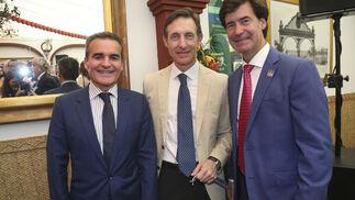 Rafael Herrador, Luis Sánchez Manzano y Miguel Rus.