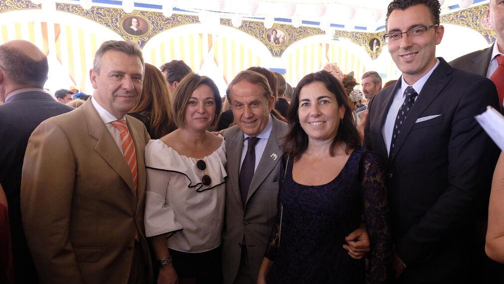Francisco Arteaga, Isabel Ambrosio, Antonio Pascual, María Jesús Almazor y Joaquín Segovia.