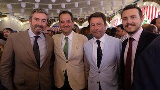 Gaspar Sáez, Carlo Suffredini, Juan Pedro Ott y Miguel Estévez.