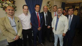 Ignacio Lloret, Jesús Navas, Pedro Sánchez, Salvador Pérez, José María Morillo, Pedro Ordóñez y José Ramón Navarro.