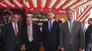 Luis Marín, Francisco Fernández, Rafael Muñoz y José Manuel Hevia.