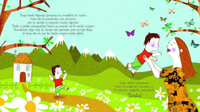 Las ilustraciones del cuento 'Hugo y la receta mágica' están realizadas por Mireia Barberà.
