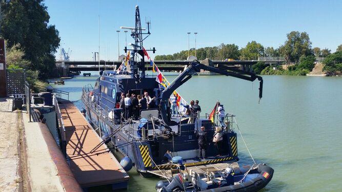 El Gerifalte 1 atracado en el Puerto.