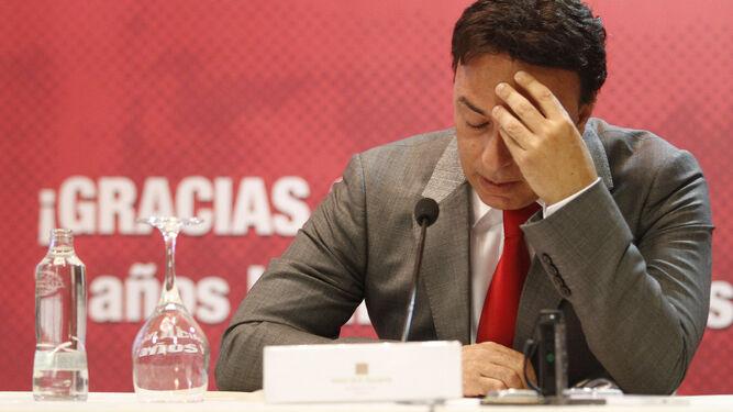 Quique Pina, el día que se despidió del Granada CF.