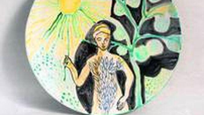 'Mujer sol', una de las obras más hermosas del conjunto.