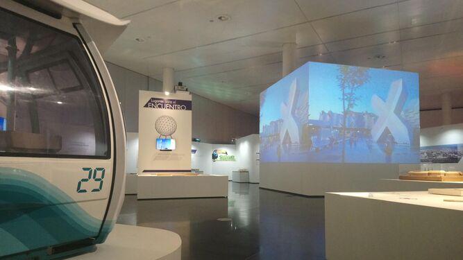 Imagen de la muestra conmemorativa del 25 aniversario de la Expo 92 en el Pabellón de la Navegación.