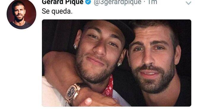 Griezmann se queda en el Atlético o se va al Barça? Captura-tuit-Pique_1156994701_71064910_667x375