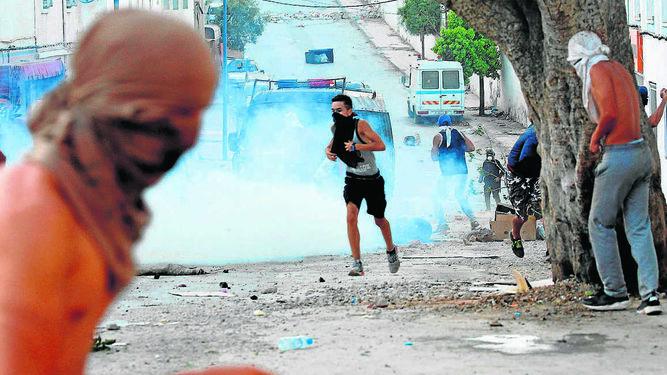 Imagen de los disturbios en Alhucemas.