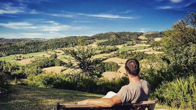Carles Francino disfruta de unas relajantes vistas en Italia.